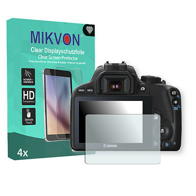 4x Mikvon Clear Screen Protector for Canon EOS 100D Retail Package + accessories