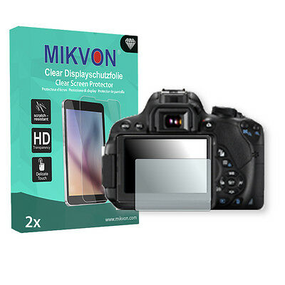 2x Mikvon Clear Screen Protector for Canon EOS 700D Retail Package + accessories