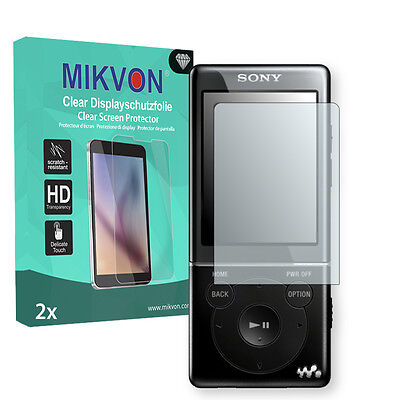 2x Mikvon Clear Screen Protector for Sony NWZ-E575 Retail Package + accessories
