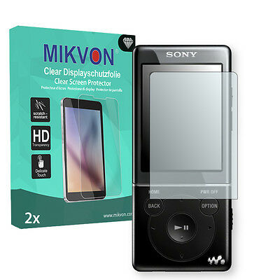 2x Mikvon Clear Screen Protector for Sony NWZ-E473 Retail Package + accessories