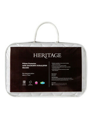 NEW Heritage Polyester Pillow Protector with Dacron Duralife:Std