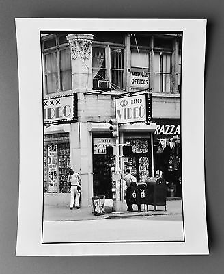 Leon Supraner New York Vintage Silver Gelatin Photo Print 20x25 XXX Rated Video