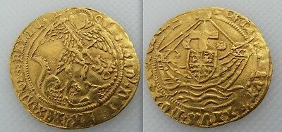 Collectable King Edward IV Hammered Gold Angel Coin - Dates to 1471-83