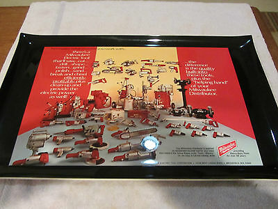 Vintage MILWAUKEE ELECTRIC TOOLS ADVERTISING SERVING TRAY !!!!MINT!!!!!