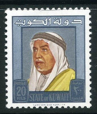 KUWAIT;  1964 early Shaikh Abdullah issue fine Mint hinged 20f. value