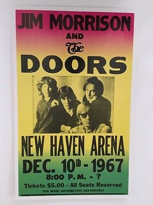 Jim Morrison & The Doors New Haven 1967 Poster Pin-up Show Concert Promo Print