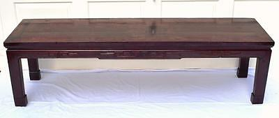 Antique Chinese Low Table/Bench, Cedar Wood, C.1900-1920s