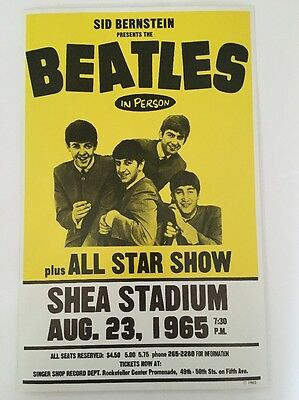 The Beatles All Star Show Shea Stadium 65 Poster Pin-up Show Concert Promo Print