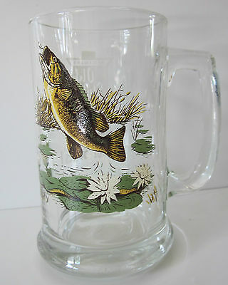 Heileman's Old Style Collector Series I Beer Mug #1 Largemouth Bass Mint!