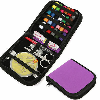 CH Travel Sewing Kit Thread Threader Needle Tape Storage Bag Scissor Thimble Set