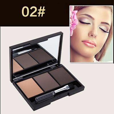 Beautiful 3 Colour Eyebrow Powder/Shadow Palette Make Up Eyebrow With Brush