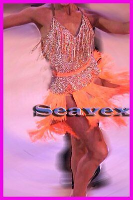 U5972 Competition ballroom salsa women Rumba swing Latin dance dress Custom made