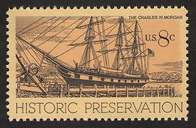 US 1441. 8c. Whaling Ship Charles, Mystic. CT. Historic Preservation. MNH. 1971