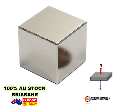 1X Super Cube 25x25x25mm N50 | Neodymium Rare Earth Block Cuboid Magnet