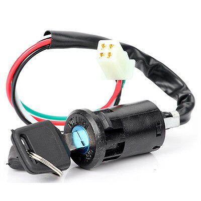 1X Motorcycle Portable Universal DIY Black Rubber Ignition Switch Key For Suzuki