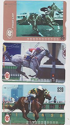 "1994 $5 $10 $20 MINT Phone Card Phar Lap"" 1930 Melbourne Cup Winner Pharlap """