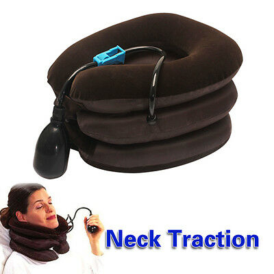 Air Inflatable Pillow Cervical Neck Shoulder Traction Support Brace Trip Device#