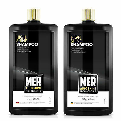 2 x Mer Ultimate Shine Water Repellent Car Wash Shampoo Cleaner 1 Litre
