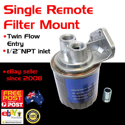 New Universal Single Remote Mount Oil Fuel Filter Bracket Racing Made in USA