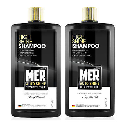 2 x Mer Ultimate Shine Water Repellent Car Wash Shampoo Cleaner 500ml