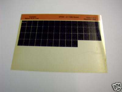 Kawasaki Zr400 Zr 400 A1 Gen Part Catalogue Microfiche