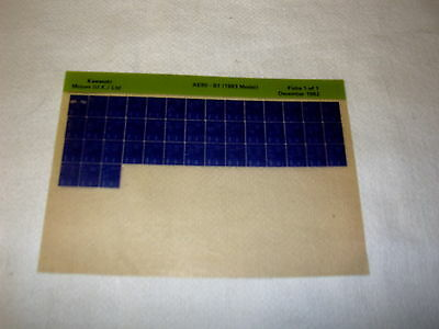 Kawasaki Ar80 Ar 80 B1 (1983 Model) Gen Part Catalogue Microfiche