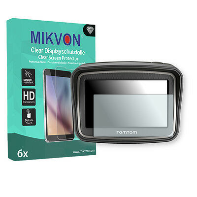 6x Mikvon Clear Screen Protector for TomTom Rider V4 (2013) Retail Package