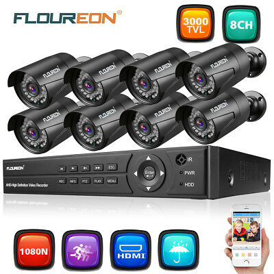 5 in 1 4CH HDMI 1080N AHD DVR 1500TVL Outdoor CCTV Video Security Camera System