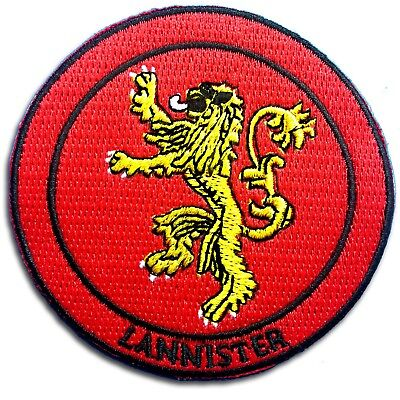 Game of Thrones Lannister Lion Sigil Patch Iron on Dark Horse Badge Embroidered