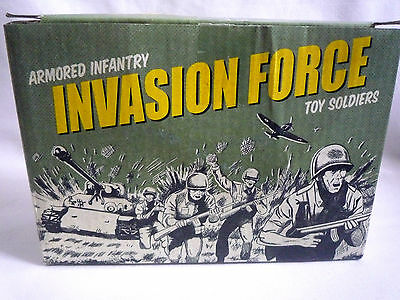 Box Of Armoured Infantry Invasion Force Toy Soilders & Vehicles