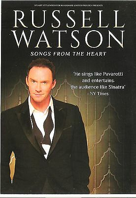 RUSSELL WATSON 2016 Tour 2-sided UK FLYER / mini Poster 8x6 inches