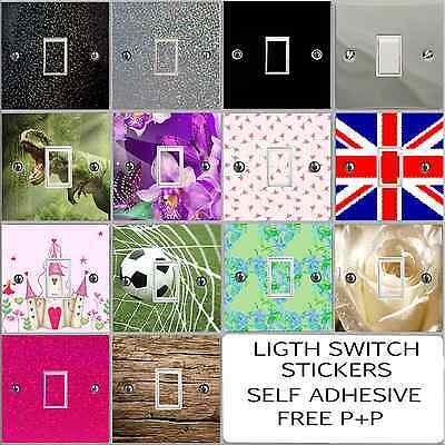 Glitter and Gloss Vinyl Light Switch Sticker Cover Decal Any Room Self Adhesive