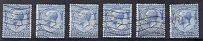 GB = 1924 G5 2-1/2d Blue (Shades). SG 422. You are buying ONE stamp. (C1a1)