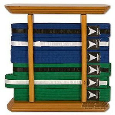 6 Level Karate Belt Display Rectangular Martial Arts Rack Tae Kwon Do Judo BJJ