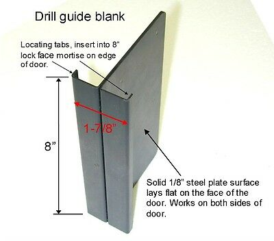 """Templaco DG-S1 - Mortise Lock Installation Schlage """"L"""" Series Drill Guide"""