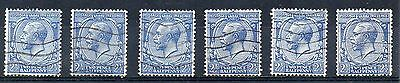 GB = 1924 G5 2-1/2d Blue (Shades). SG 422. You are buying ONE stamp. (C7a4)