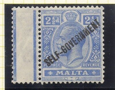 Malta 1922 Early Issue Fine Mint Hinged 2.5d. Optd 043783