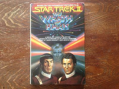 STAR TREK II HARD COVER BOOK. NM CONDITION. 1982 1st EDITION. THE WRATH OF KHAN.