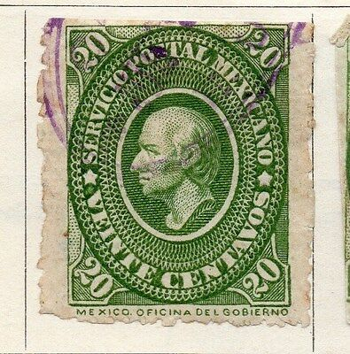 Mexico 1884 Early Issue Fine Used 20c. 063184
