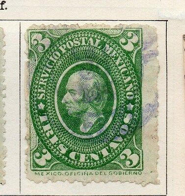Mexico 1884 Early Issue Fine Used 3c. 063180