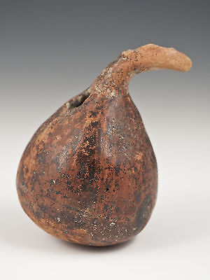 Small Narino Pre-Columbian Pot with Protruding Face, Ecuador