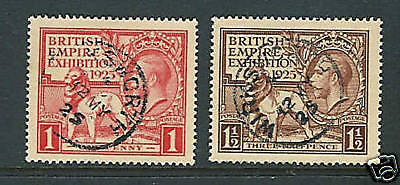 GREAT BRITAIN 1925 EXHIBITION VF/XF USED 'SON' cancels