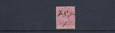 TOBAGO 1879 QV (SG 1 one penny) USED pen cancel