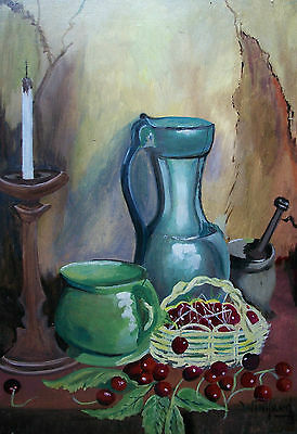 Vintage Folk Art Painting on Panel - 'Odd's & Sod's by Winifred' - 20th Century
