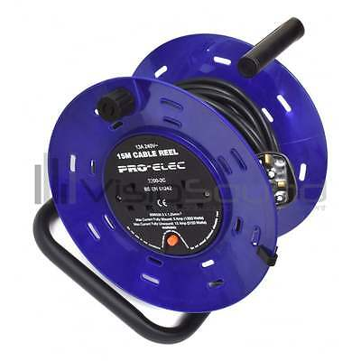 VisioSound Extension Cable Reel - Long UK Mains Power Lead - 15m to 50m 2/4 Gang