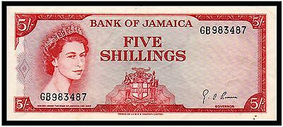 Jamaica 5 Shillings (G.A. Brown) 1960 (P-51Ad) Stunning Beauty!