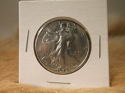 1942 D Liberty Walking Silver Half Dollar Coin Great Condition Us Mint Rare Coin