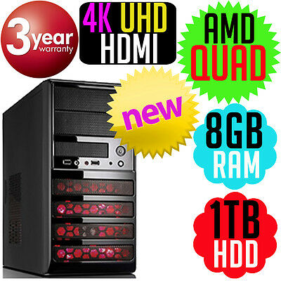AMD A10 7850k QUAD Core 4GHz 1TB 8GB Radeon R7 Computer Desktop Tower PC NEW