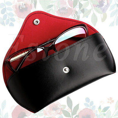 Leather Buckle Sunglasses Hard Eye Glasses Case Eyewear Protector Box Protable