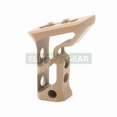 FDE Skeletonized Aluminum Long Angled Foregrip KeyMod Hand Stop Vertical Grip